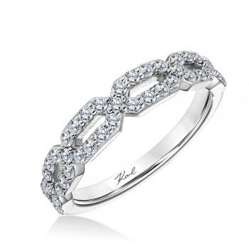 Karl Lagerfeld 31-KA108ERW-E.00  18k White Gold Ladies Arch Wedding Band