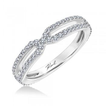 Karl Lagerfeld 31-KA109GUW-E.00  18k White Gold Ladies Arch Wedding Band
