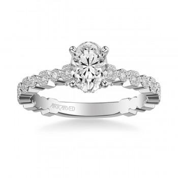 Artcarved 31-V823EVW-E Vintage 14k White Gold Ladies Louisa Engagement Ring