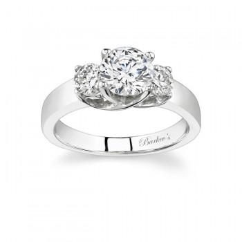 Barkevs Three Stone Diamond Ring 4191LW