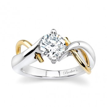 Barkevs Two Tone Solitaire Engagement Ring  5219LYW