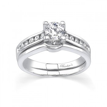 Barkevs White Gold Diamond Engagement Ring Set 6952SW