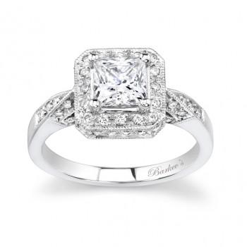 Barkevs Unique Halo Engagement Ring 7088LW