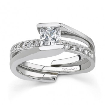 Barkevs White Gold Diamond Engagement Ring Set 7154SW