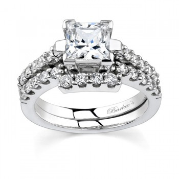 Barkevs White Gold Diamond Engagement Ring Set 7260SW
