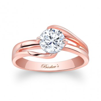 Barkevs Rose Gold Solitaire Ring 7378LPW