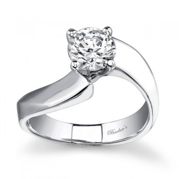 Barkevs Round Solitaire Ring  7381LW