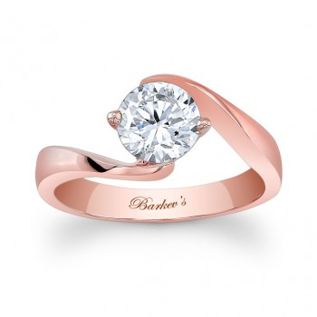 Barkevs Rose Gold Solitaire Ring 7499LPW