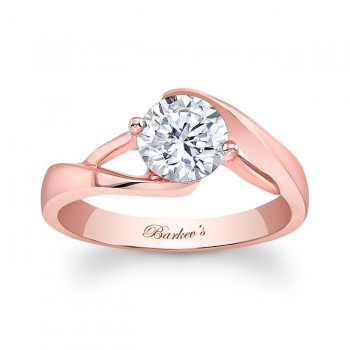 Barkevs Rose Gold Solitaire Ring 7543LPW