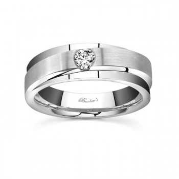 White Gold Diamond Wedding Band 7594G