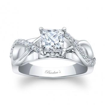 Barkevs Princess Cut Diamond Engagement Ring 8018LW