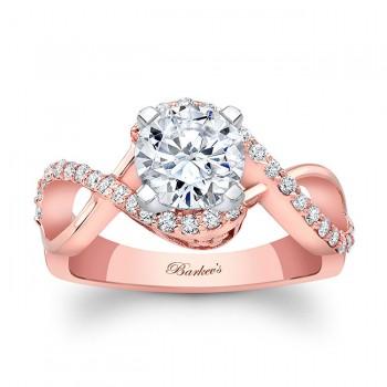 Barkevs Rose Gold Engagement Ring 8020LPW