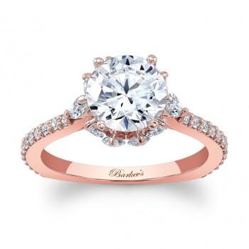 Barkevs Rose Gold Engagement Ring 8023LPW