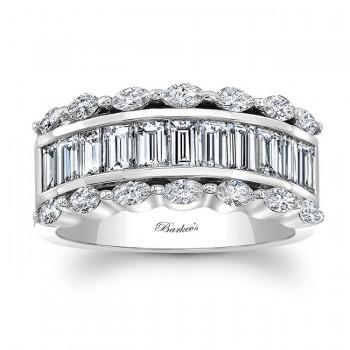 White Gold Diamond Wedding Band 8068L