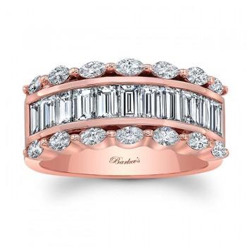 Rose Gold Diamond Wedding Band 8068LP
