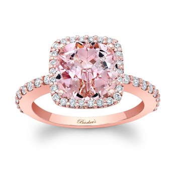 Barkevs Morganite Engagement Ring  MOC-8025LPW