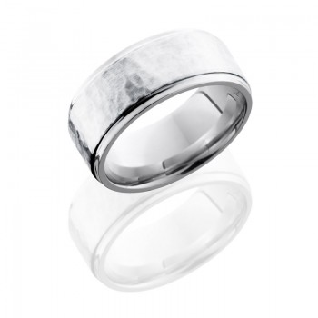 Lashbrook Cobalt Chrome 9mm Flat Band With Grooved Edges And 6mm Ss CC9FGE16/SS