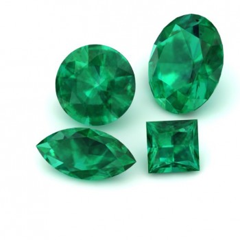 Round Lab Grown Emerald