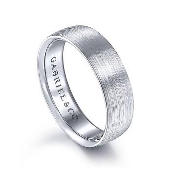 Gabriel & Co 14K White Gold Straight Wedding Band MBL0156-60W4JJJ
