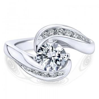 Gabriel & Co 14K White Gold Diamond Channel Bypass Engagement Ring ER4309W44Jj