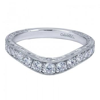 Gabriel & Co 14K White Gold Diamond Curved Anniversary Band AN10961W44JJ