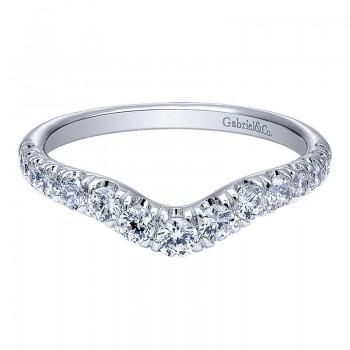Gabriel & Co 14K White Gold Diamond Curved Anniversary Band AN10969W44JJ