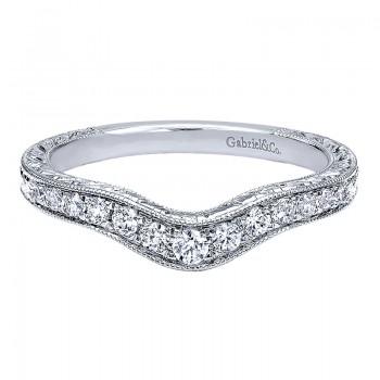 Gabriel & Co 14K White Gold Diamond Curved Anniversary Band AN10979W44JJ