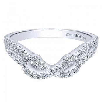 Gabriel & Co 14K White Gold Diamond Curved Anniversary Band AN11005W44JJ