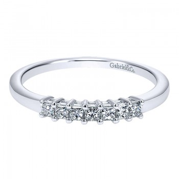 Gabriel & Co 14K White Gold Diamond Straight Anniversary Band AN11195W44JJ