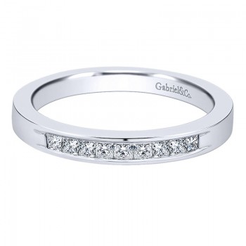 Gabriel & Co 14K White Gold Diamond Straight Anniversary Band AN11222W44JJ