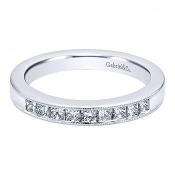 Gabriel & Co 14K White Gold Diamond Straight Anniversary Band AN11235W44JJ