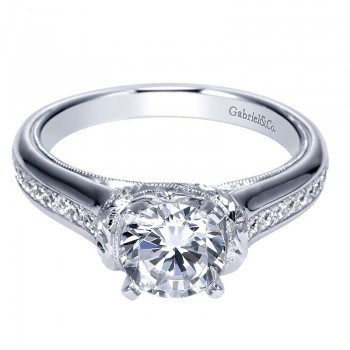 Gabriel & Co 14K White Gold Diamond Straight Engagement Ring ER9237W44JJ