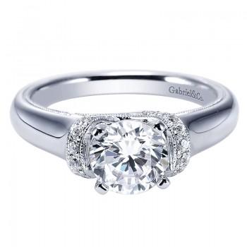 Gabriel & Co 14K White Gold Diamond Straight Engagement Ring ER9239W44JJ