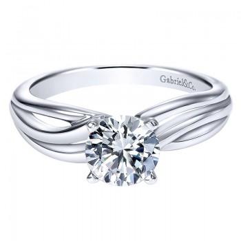 Gabriel & Co 14K White Gold Free Form Engagement Ring ER9175W4JJJ