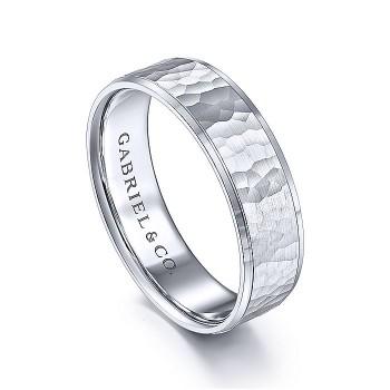 Gabriel & Co 14K White Gold Straight Wedding Band MBL0146-60W4JJJ