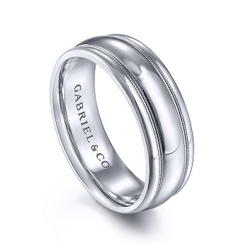 Gabriel & Co 14K White Gold Straight Wedding Band MBH0154-70W4JJJ