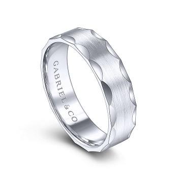 Gabriel & Co 14K White Gold Straight Wedding Band MBM0148-60W4JJJ