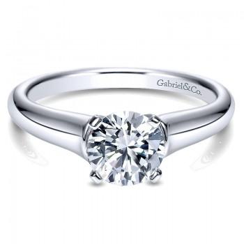 Gabriel & Co 14K White Gold Solitaire Engagement Ring ER9088W4JJJ