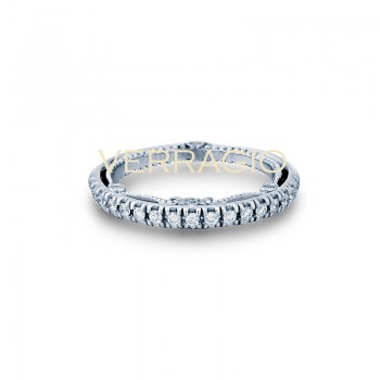 Verragio INS-7066W 14k White Gold Ladies Insignia Wedding Band