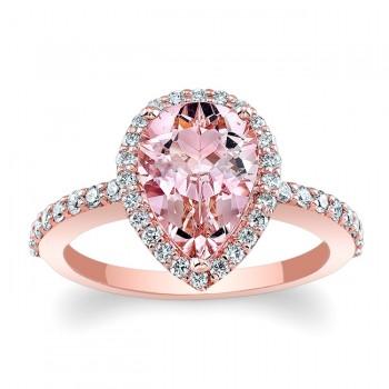 Barkevs Morganite Engagement Ring MOC-7994LPW