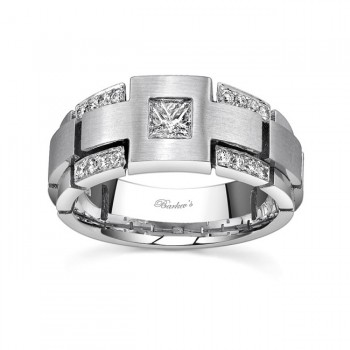 White Gold Diamond Wedding Band 7591G