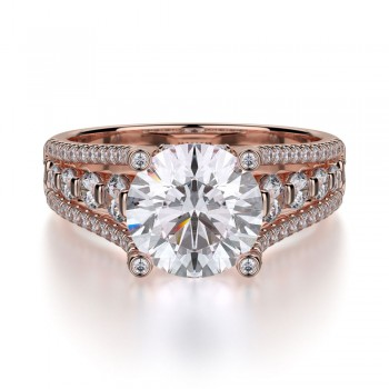 MICHAEL M 18k Rose Gold Engagement Ring R306S-1-5-18R