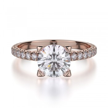 MICHAEL M 18k Rose Gold Engagement Ring R371-1-18R