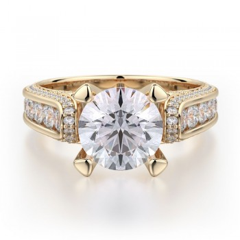 MICHAEL M 18k Yellow Gold Engagement Ring R399-2-18Y