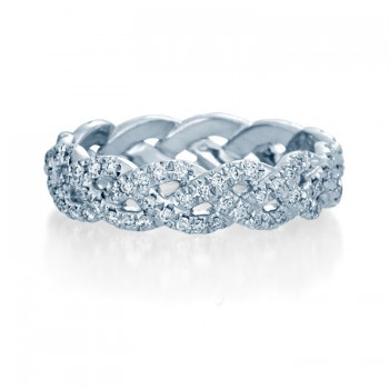 Verragio WED-4023 Platinum Ladies Eternity Wedding Band